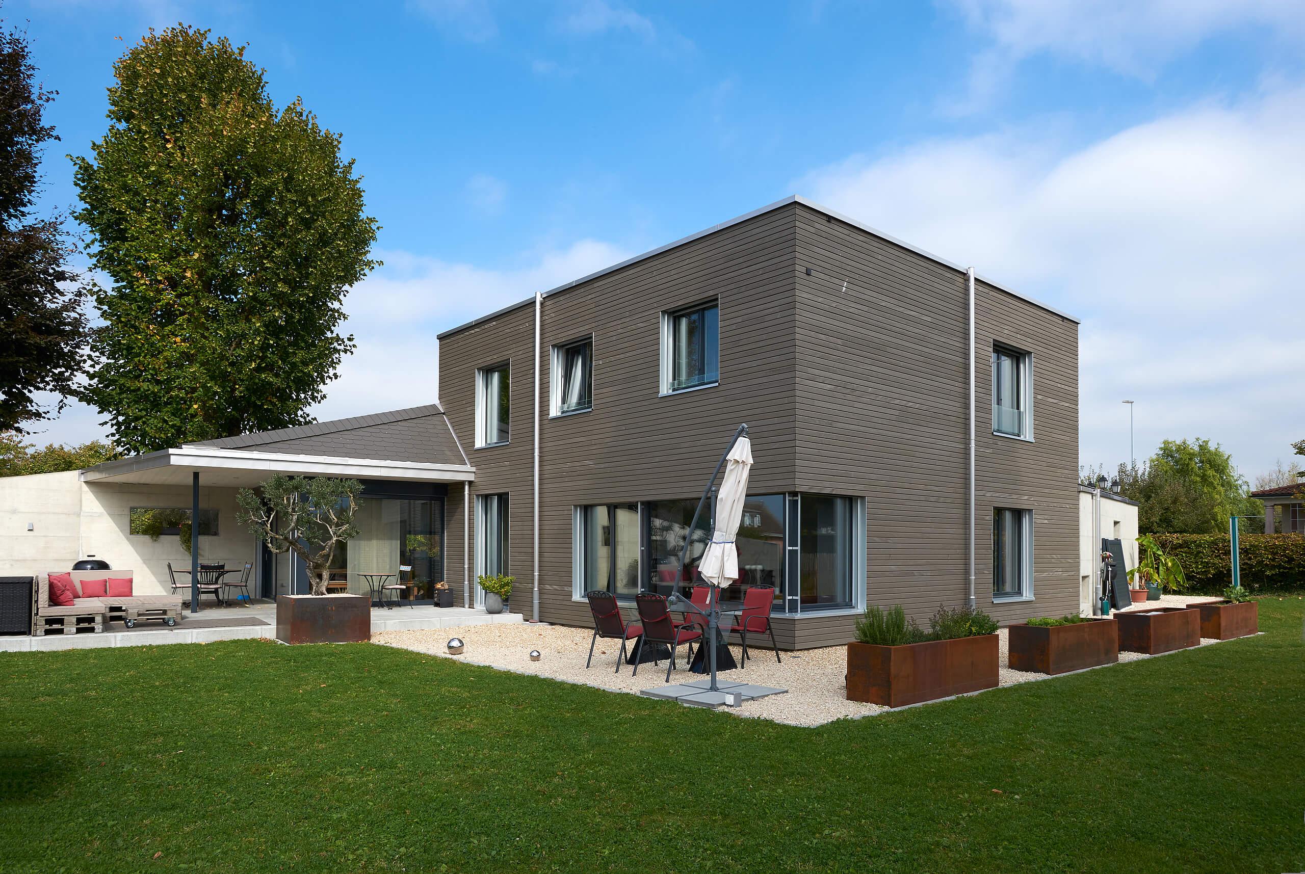 Construction D Une Maison A Ossature Bois Minergie P Lutz Architectes